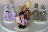 Cake Toppers (Rouvelee's Creations) Tags: bear girl hellokitty balloon polymerclay hippopotamus caketopper rouvelee