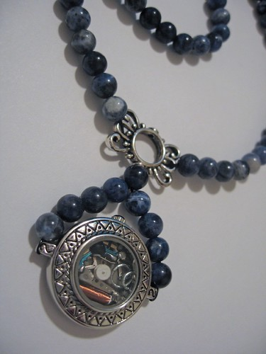 Blue Watch Necklace