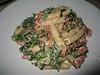 Pasta salade met geroosterde paprika's en geitenkaas