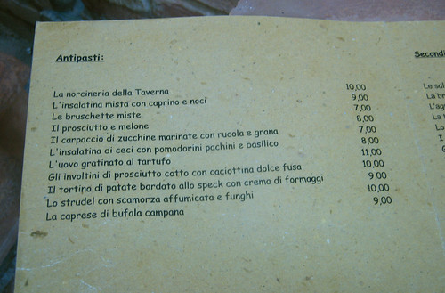Menu at Taverna del Gusto Deruta_005