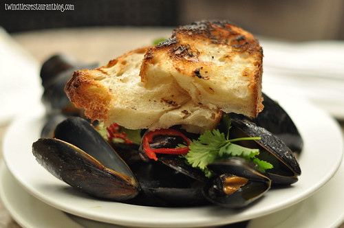 Coconut Curry Mussels at WA Frost & Co ~ St Paul, MN