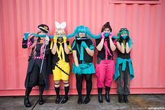 110426_7204 (lorrainefish) Tags: cosplay vocaloid eagerloverevenge hatsunemiku megurineluka jyo kagaminerin meiko gowa gumi fi ticky reika