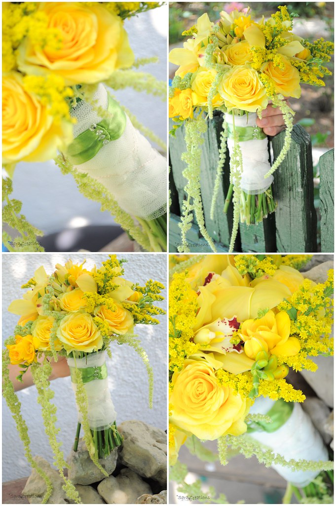 yellow bride bouquet