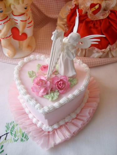 Faux Angel Heart Cake