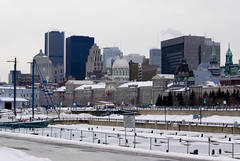 View on Montreal from the Old Port
