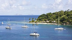 Saint Vincent and the Grenadines (max-faber) Tags: blue sea tree beach water saint island hotel boat chair vincent young palm resort palmtree catamaran caribbean grenadines youngisland stvincentandthegrenadines saintvincentandthegrenadines hamocks youngislandresort maxfaber