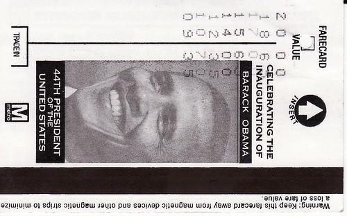 obama metro ticket