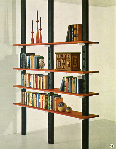 60s DIY bookshelf/room divider