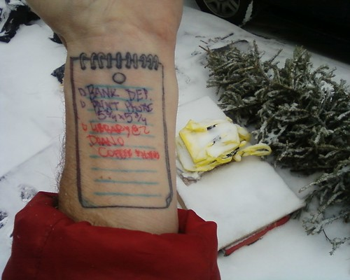 notebook tattoo. notepad