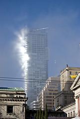 Mist on the Shangri-La 19/365 (Carol Browne) Tags: light mist vancouver haze shangrila project365 jan09365 crazylightandreflection iswearthatthisisnotphotoshoppedionlydidsomecontrastadjustmentsonthisphotocrossmyheart