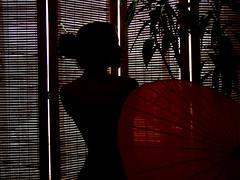 Oriente-se (DeniSomera) Tags: woman japan mulher curves vermelho japão bambu curvas idéias referência gueixa