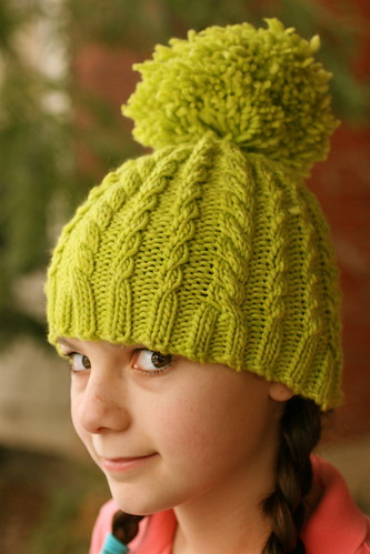 Snowball Hat in Malabrigo Apple Green