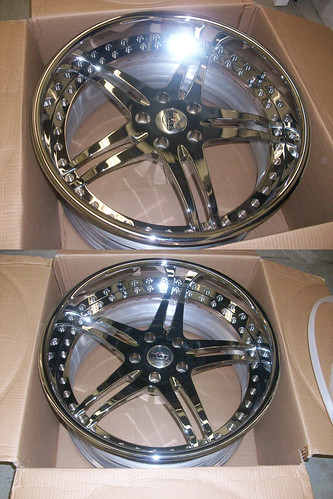 Custom Built Chrome Wheels for 5 series BMW