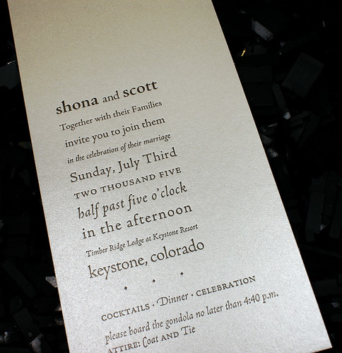 Letterpress Invitation (reveal): S / S