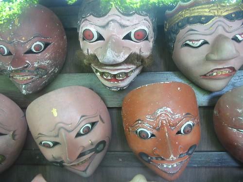 Oude maskers in het Kraton