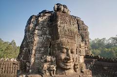 Angkor Thom - Sweet Smile (GlobeTrotter 2000) Tags: vacation panorama smile architecture landscape nikon cambodia khmer faces buddha buddhism angkorwat temples thom features angkor wat dri bayon angkorthom platinumphoto gettyvacation2010