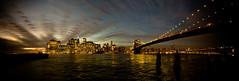 Atardece sobre Manhattan (Munduate) Tags: travel panorama newyork manhattan brooklynbridge