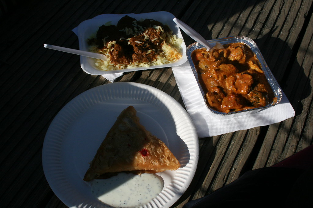 African and Indian food from Camden Market