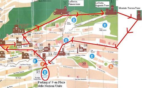 Mapa caminata sanmarino por ti.