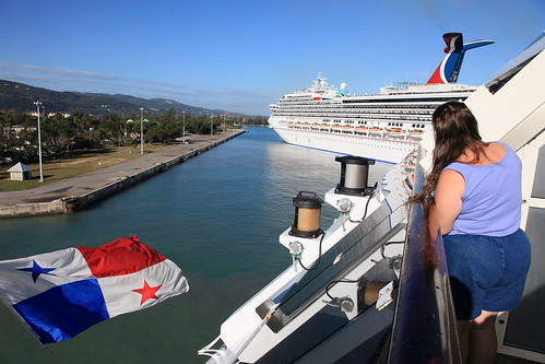 Arriving in Montego Bay (SunCat) Tags: travel cruise vacation woman clothing friend girlfriend all bare bbw spouse jamaica wife caribbean debbie sweetheart lover mate companion 2009 soulmate montegobay optional necessities braless clothingoptional barenecessities confidante so