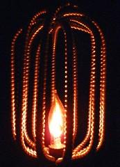 Caged Lamp (RiverOtterWidgetStudios) Tags: original lamp dark mixed rust media artist industrial desk ooak detroit victorian gear fantasy neo fi brass sci patina steampunk