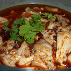 Steamed Chicken with Chili Oil