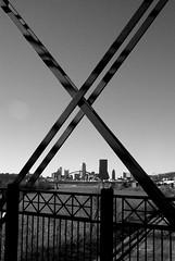 X (Shana Marie) Tags: winter blackandwhite buildings skyscrapers steel framing cityview monongahelariver birminghambridge shanakraynak downtownpittsburghskyline viewfromhotmetalbridge