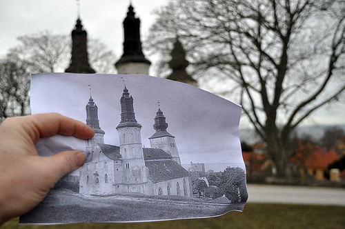 Now and then: Visby Cathedral