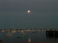 Provincetown, MA, harbor at night, 20020820
