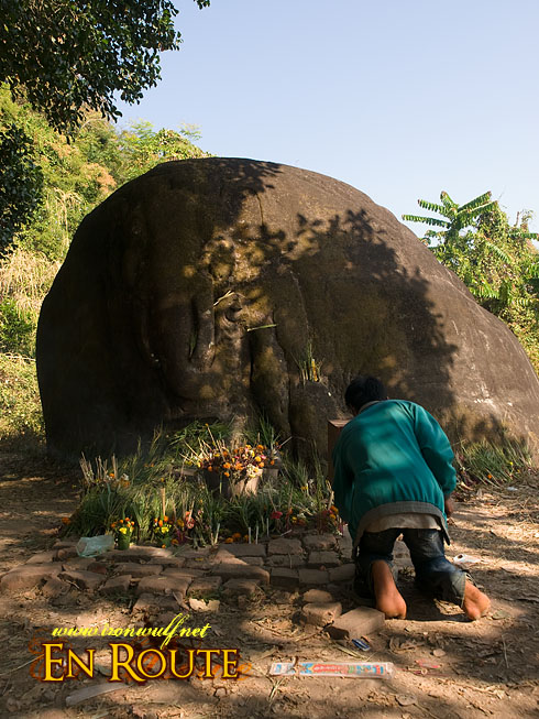Wat Phu Champasak Festival Elephant Stone