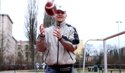 American Football Pressepsrecher Berlin Bullets