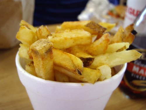Fries from Five Guys