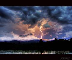ALLAH HU AKBAR! (azam667) Tags: sunset sky clouds canon evening kampung 1785mm soe gmt tasek supershot kilat guruh 40d canonian tasekraban goldstaraward azam667 azamanmusacom kebesaranallah thuderlighting