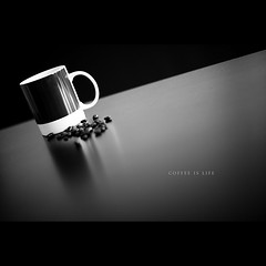 Day Eighty Eight (Dustin Diaz) Tags: bw cup coffee beans nikon drink sunday beverage naturallight simplicity mug 365 spill caffeine tabletop coffeebeans featured project365 dustindiazcom d700 fourbarrel iwishihadlonghairtowhipandgasp pantone732c