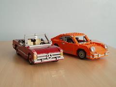 Mercedes-Benz (Mad physicist) Tags: cars car lego 911 porsche mercedesbenz janis joplin lugnuts