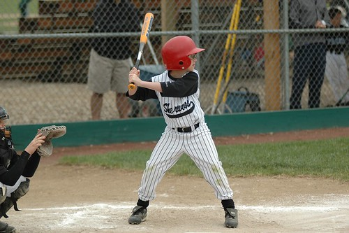 Joe batting at Reedville