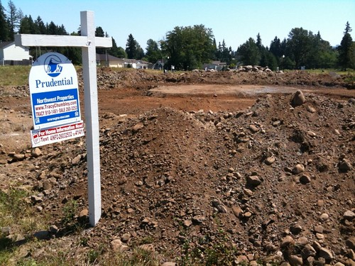 This is a good sign! Breaking ground in Washougal!