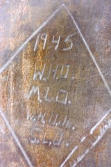 GI graffiti at the Eagle's Nest (jayinvienna) Tags: mountain alps germany bayern deutschland bavaria hitler worldwarii eaglesnest kehlsteinhaus bandofbrothers adlerhorst 506th easycompany