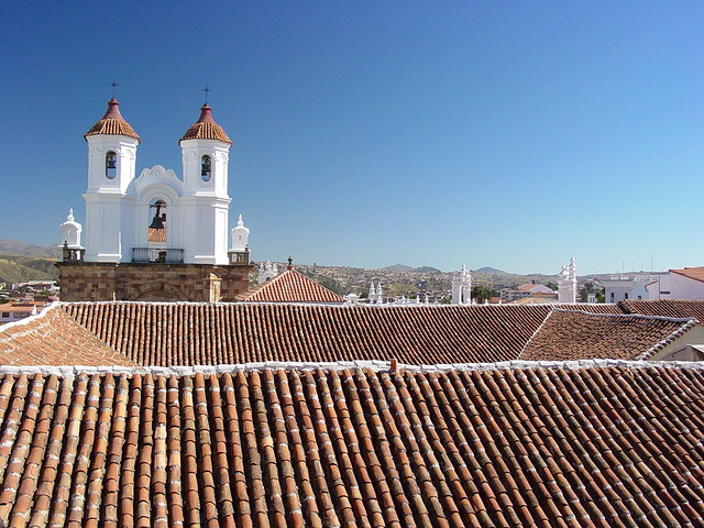 Tiled Roofs and Cathedral - Historic Center - Sucre - Bolivia