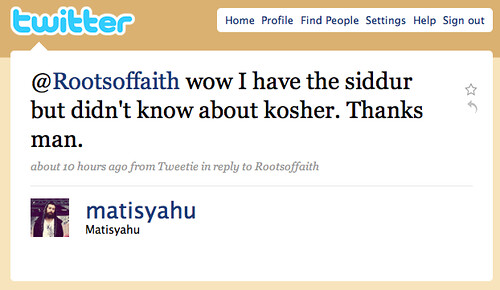 Matisyahu Uses iPhone Siddur