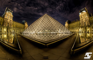 The face of the Louvre