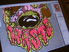 Waste x Any Forty Versus Range work in progress (wasteyourself) Tags: illustration design silkscreen waste gorey tees ilk jamfactory mcfaul niark1 alanwardle anyforty