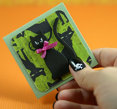 Mini Black Cat Card (She's Batty) Tags: black halloween cat skull jamie nail mini nails designs 365 etsy guild shes 52 batty efa artfire ghouls sabot 52weeks 365days etsygreetings etsypaper ghoulsguild