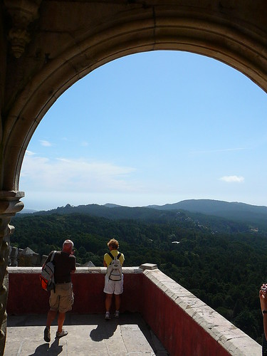 La Sierra de Sintra, desde el mirador trasero del Palacio.
