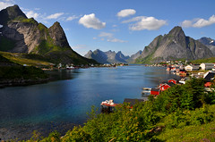Beautiful Reine (aaberg) Tags: mountains beautiful norway norge fishing nikon village north norwegen arctic explore lofoten reine rugged fjell nordland moskenes d90 fiskevr