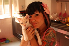 True love! Happy B-day to me! (ladybastard_harajuku) Tags: birthday flower cute love girl true tattoo cat vegan gloomy kawaii
