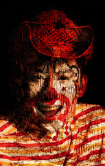 In the name of fun (ALFONSO SNCHEZ) Tags: texture studio scary retrato clown fear spooky scared clowns fears scar payaso miedo scars phobias payasos fobias miedos clonw freakcircus alfonsosanchez inthenameoffear inthenameoffun