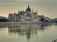 Hungarian Parliament - the Pest side of the Danube (joiseyshowaa) Tags: hungary buda pest budapest castle danube danau river water parlaiment building gothic architecture viking cruise holiday vacation travel evening dusk morning dawn landmark national assembly kossuth lajos square revival style hdr soe land scape landscape cityscape abigfave europe eastern soviet block union joiseyshowaa joiseyshowa twilight