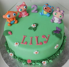 waybuloo birthday cake (Lucyscakesandtoppers.co.uk) Tags: birthday cake de li icing childrens edible topper nok lau tok characeters yojojo waybuloo