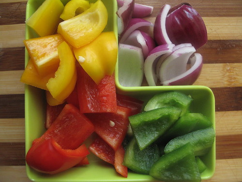 Chopped peppers & onions